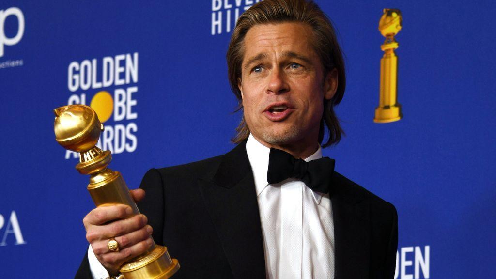 """Brad Pitt a Di Caprio tras ganar el Globo de Oro: """"Yo sí hubiera compartido la tabla en Titanic"""""""