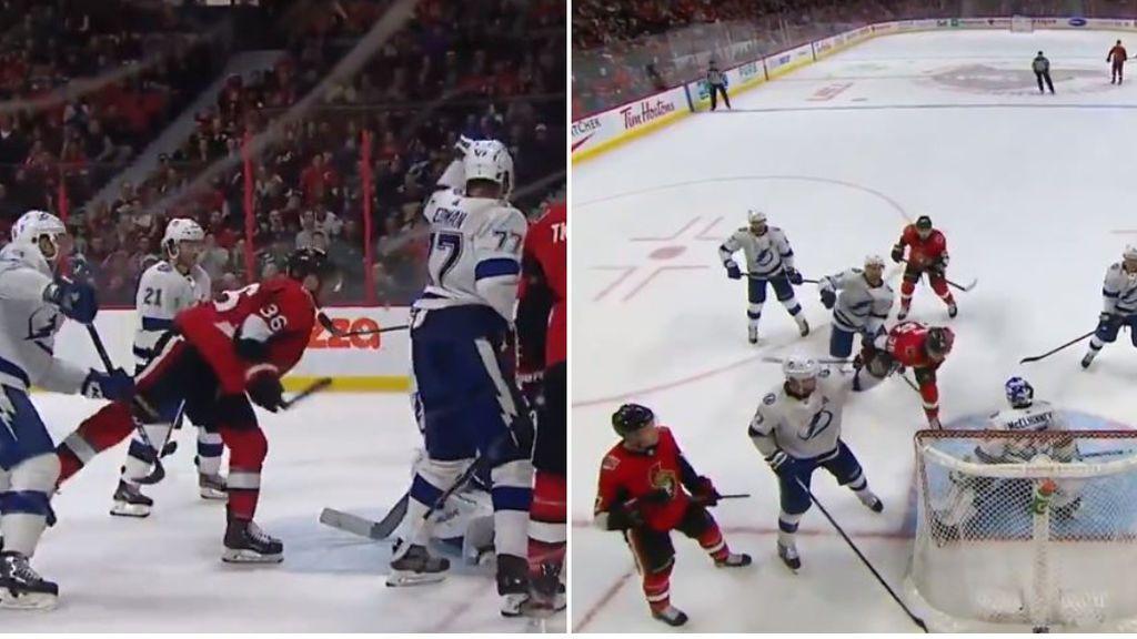 Colin White hace historia en la NHL al marcar un gol de cabeza: los compañeros no se lo podían creer