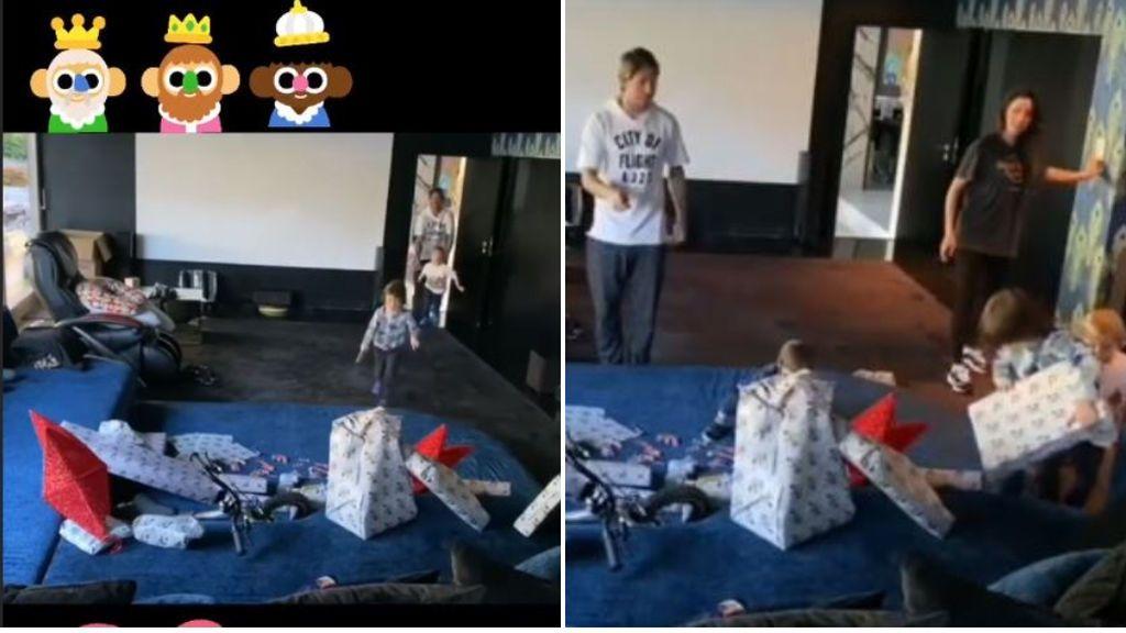 """""""Hala, hala, ese es para mí"""": Sergio Ramos graba la reacción de sus hijos al ver los regalos de los Reyes Magos"""
