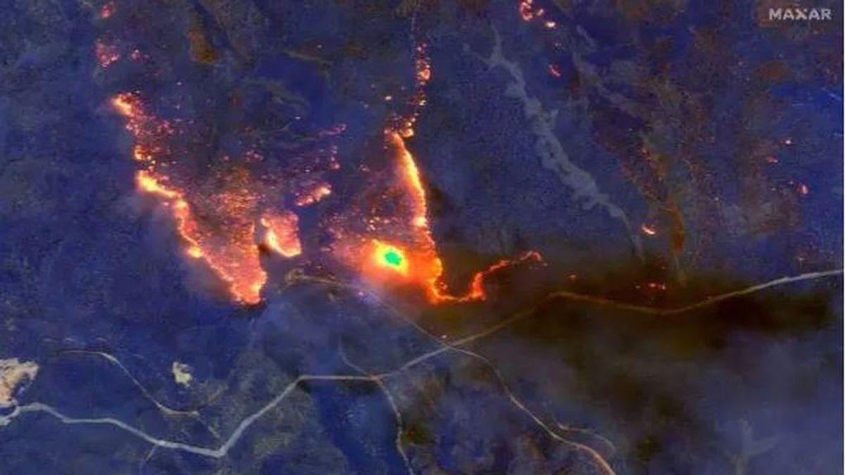 Captan desde el espacio el horror de los incendios que han devastado Australia