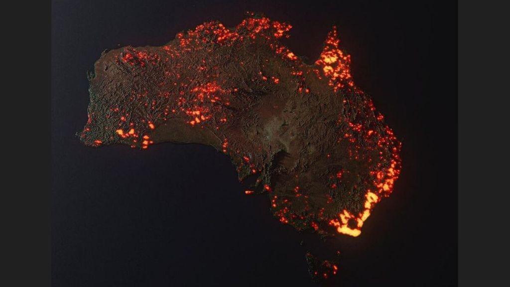 La historia de la imagen de Australia atribuida a la NASA