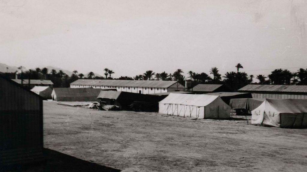 Una foto de un campo de concentración, la más visitada en 2019 en la versión digital de la Biblioteca Nacional