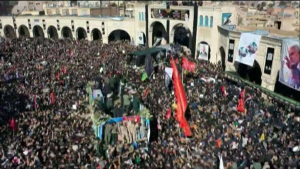 Estampida mortal en Irán durante el funeral de Soleimani