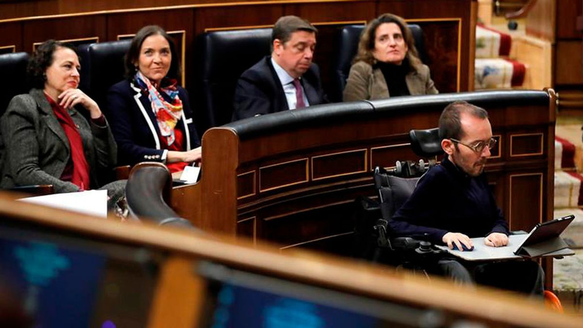 Podemos espera que el Congreso adapte el hemiciclo para que Echenique ejerza como portavoz