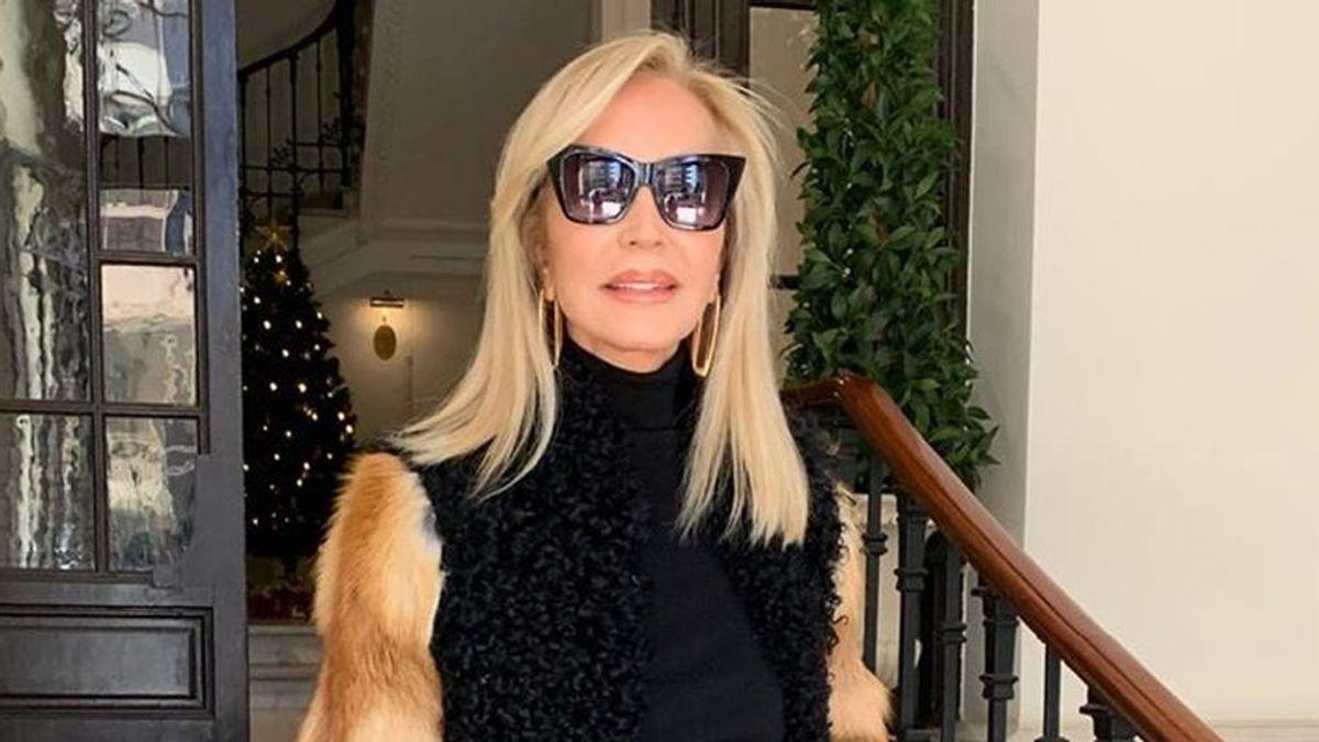 """Carmen Lomana, criticada por ponerse abrigos de piel: """"Los sintéticos que contaminan muchísimo"""""""