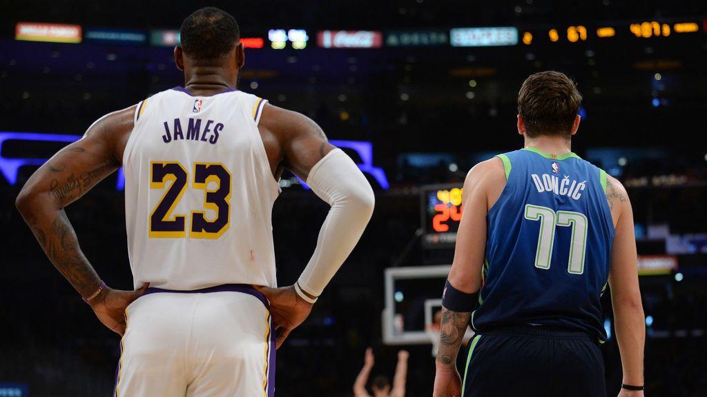 LeBron James supera a Luka Doncic, segundo, como el jugador más votado para el All Star de la NBA