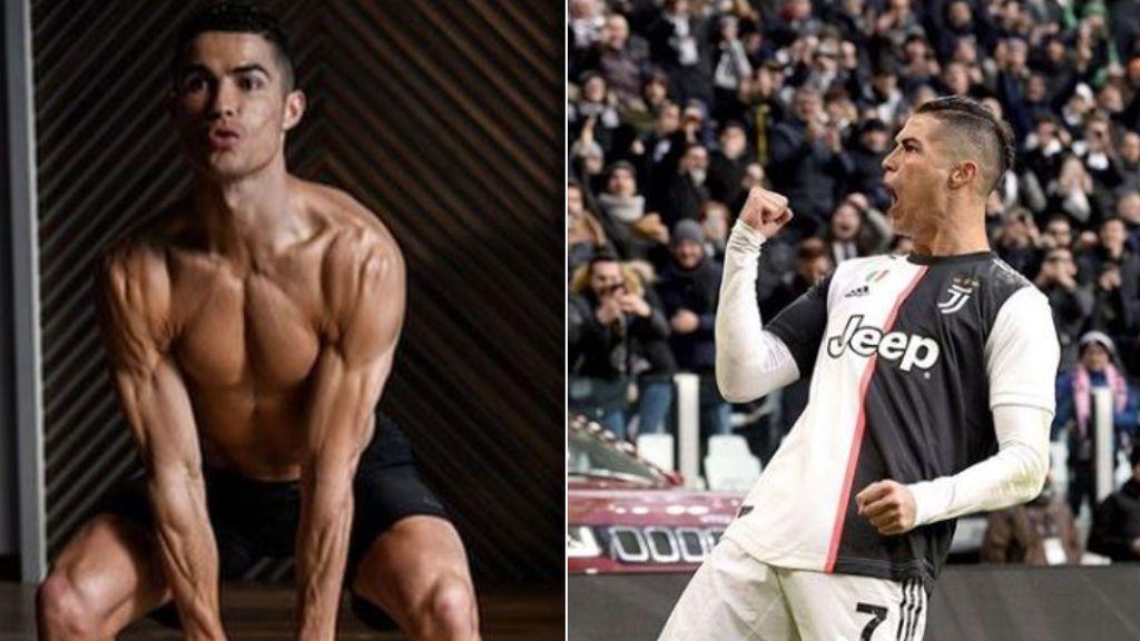 """Cristiano Ronaldo presume de musculoso cuerpo a los 35 años: """"Guerrero"""""""