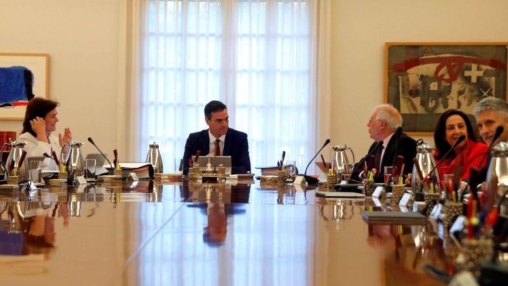 Sánchez preside un Consejo de Ministros