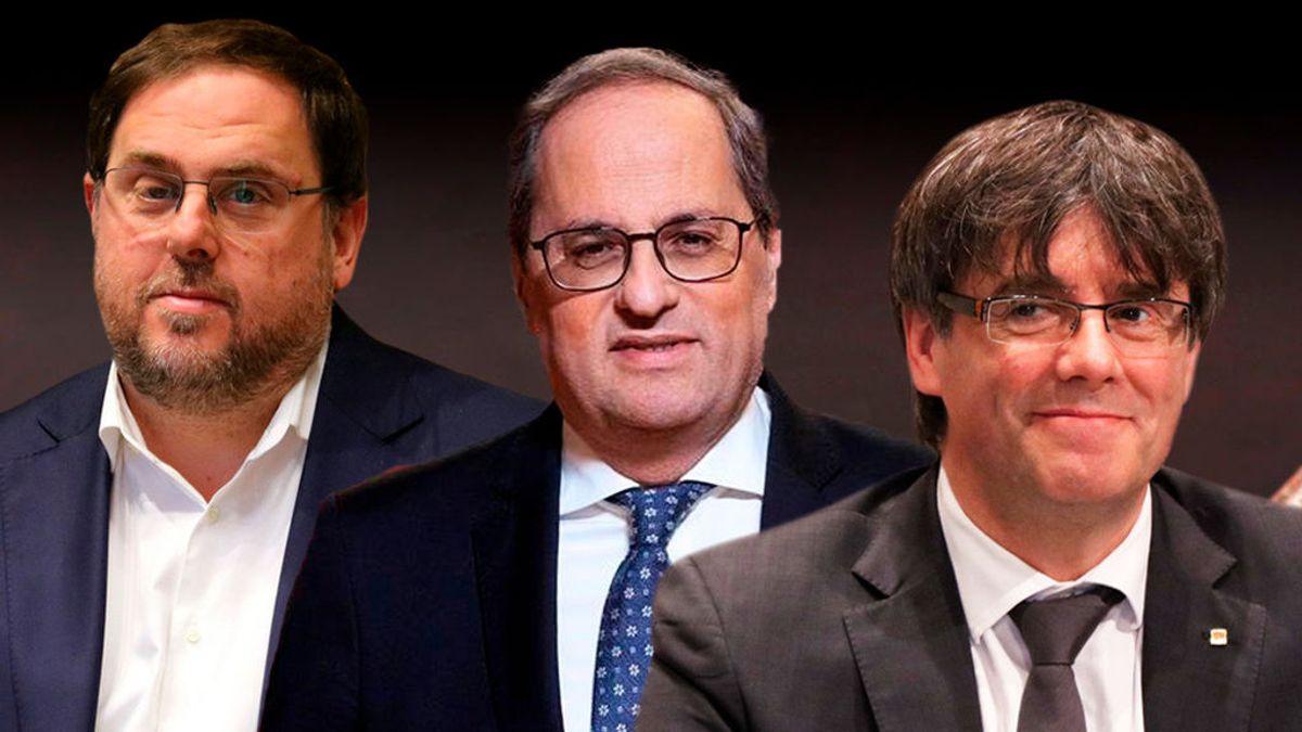 Junqueras, Pugidemont y Torra, minuto y resultado judicial