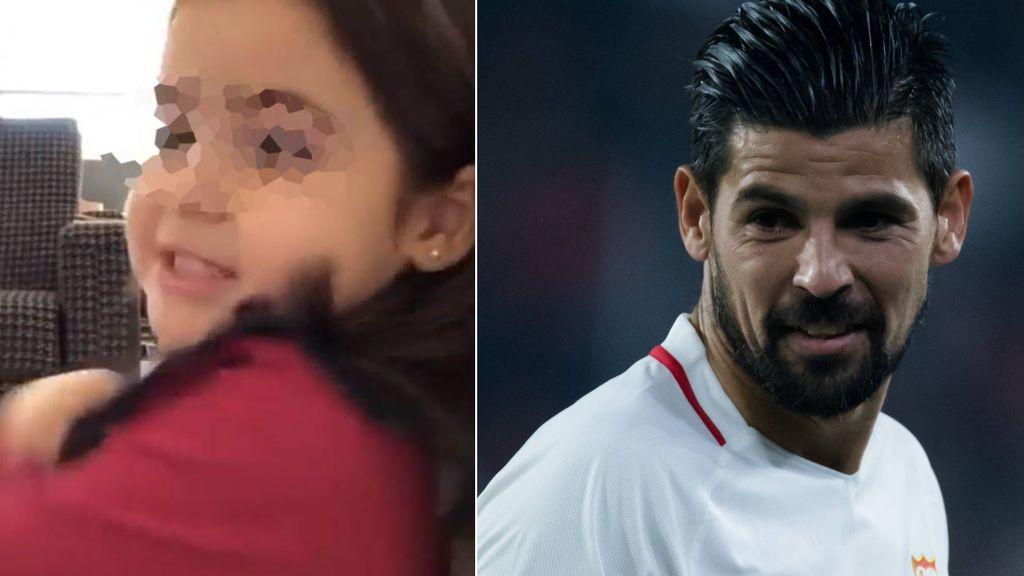 """La hija de 4 años de Nolito se hace 'youtuber' y el futbolista pide consejo: """"Y ahora qué hago con esta personaje"""""""