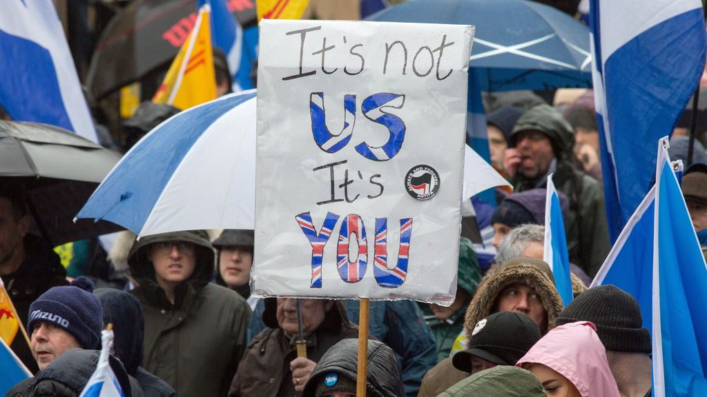 Manifestación en Glasgow
