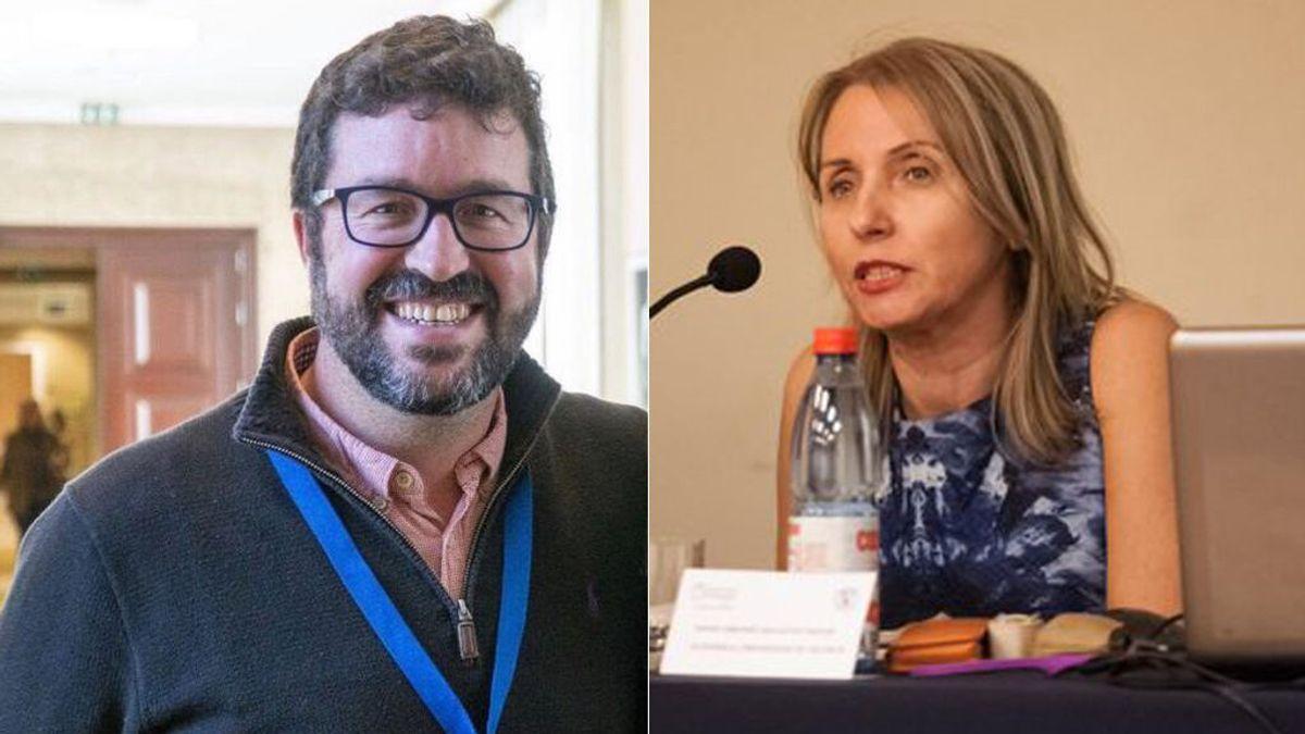 Joaquín Pérez, secretario de Estado de Trabajo, y María Amparo Ballester, jefa de Gabinete de Díaz