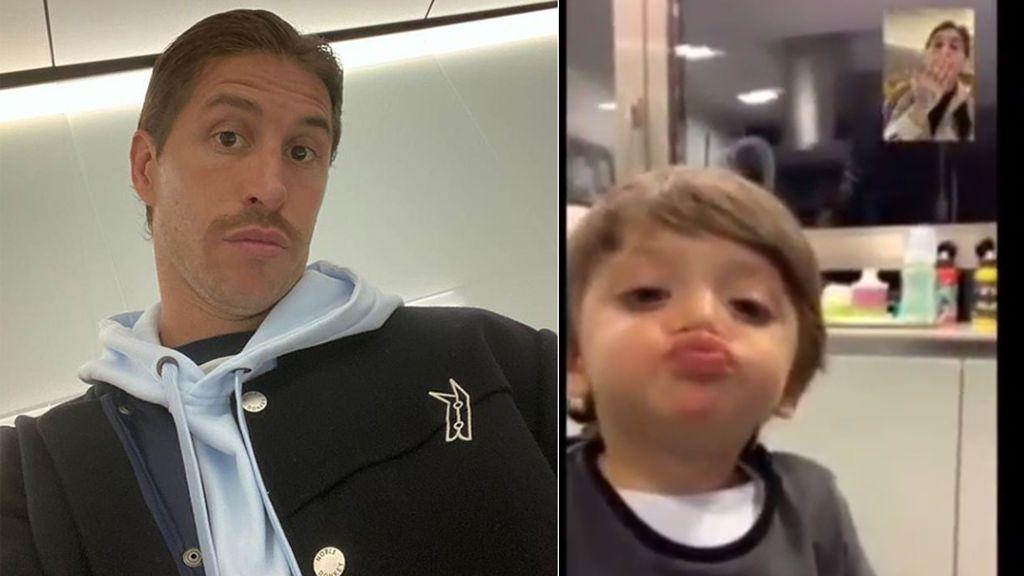 """La video llamada de los hijos de Sergio Ramos al futbolista tras varios días sin verlo: """"Siempre un beso de buenas noches"""""""