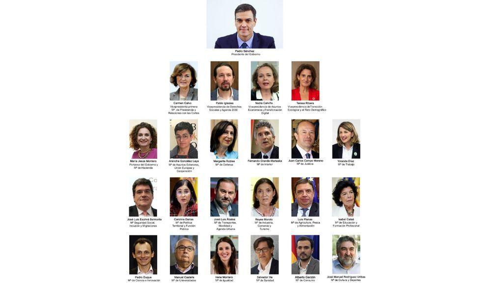 Sánchez forma un Gobierno paritario con contrapesos a Podemos y más ministros del PSOE que independientes