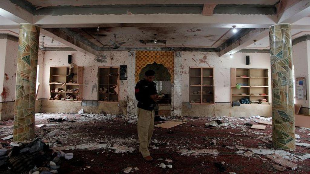 Lugar en el que ha explotado una bomba en Quetta