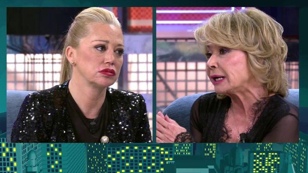 El cara a cara entre Belén y Mila
