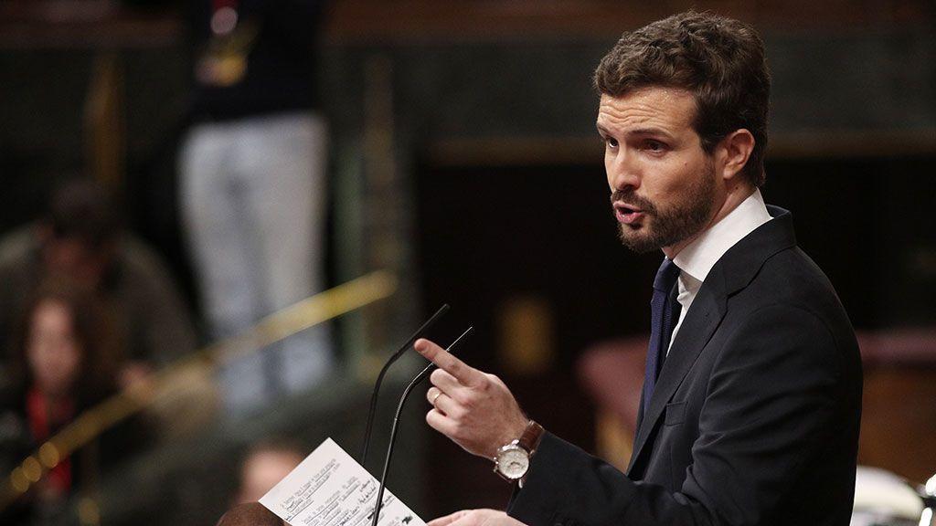 """Casado califica de """"lamentable"""" la participación de Podemos en la marcha por los presos de ETA"""