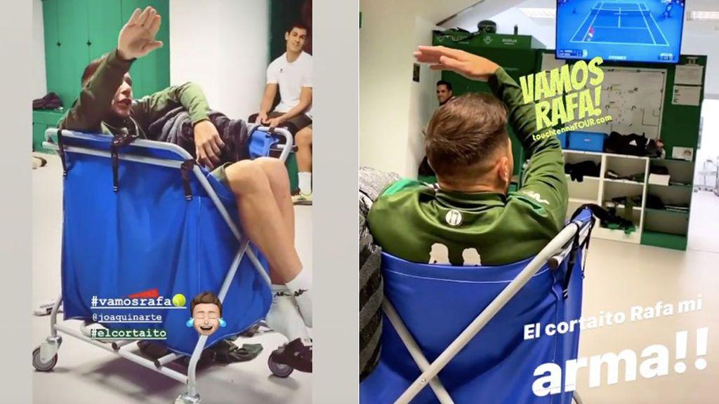 El sufrimiento de Joaquín con la derrota de Rafa Nadal ante Djokovic