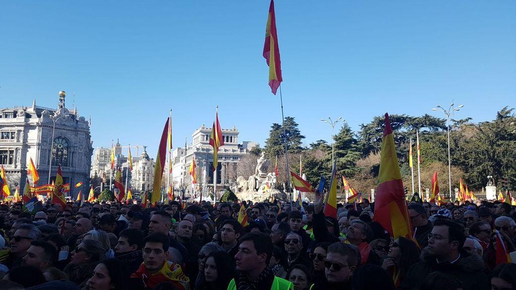 VOX se manifiesta contra el Gobierno de Sánchez