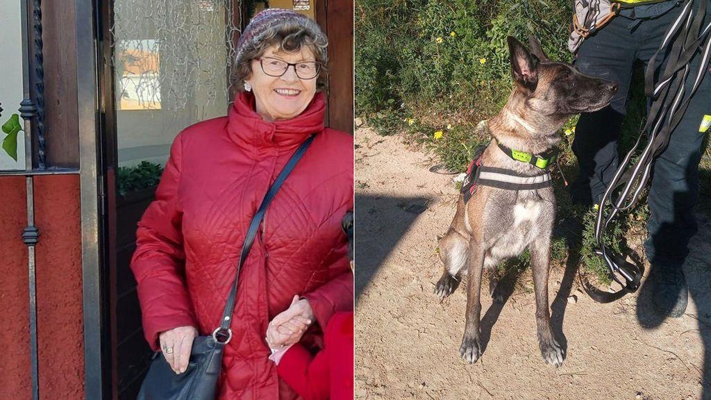 Piba, de la Unidad Canina, localiza a salvo a Annie la mujer con alzhéimer desaparecida en Alicante