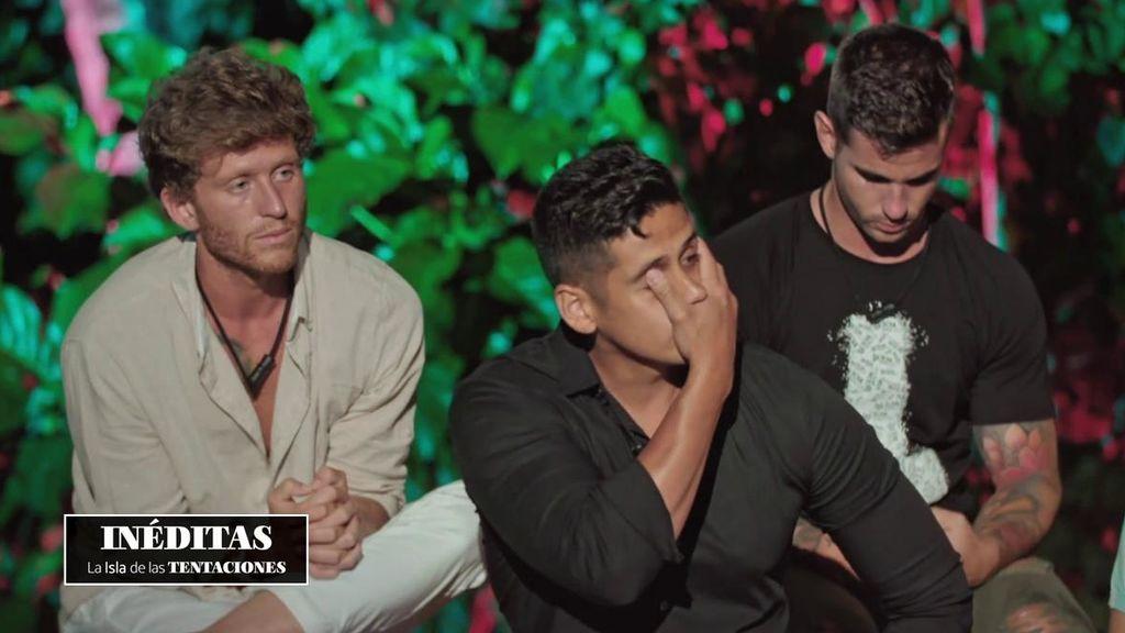 Inédito: Cristofer se enfrenta a las imágenes más duras de Fani en 'La isla de las tentaciones'
