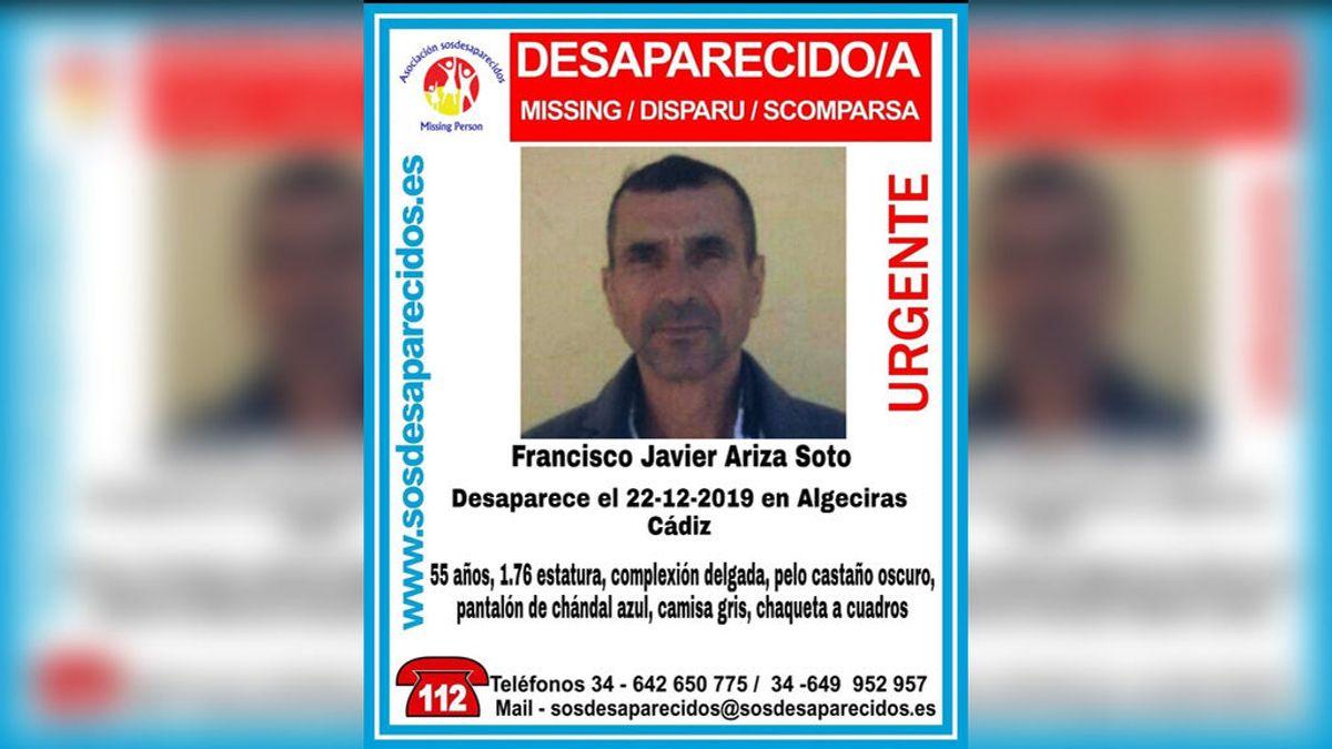 Buscan a Francisco Javier Ariza Soto de 55 años, desaparecido en Algeciras el 22 de diciembre