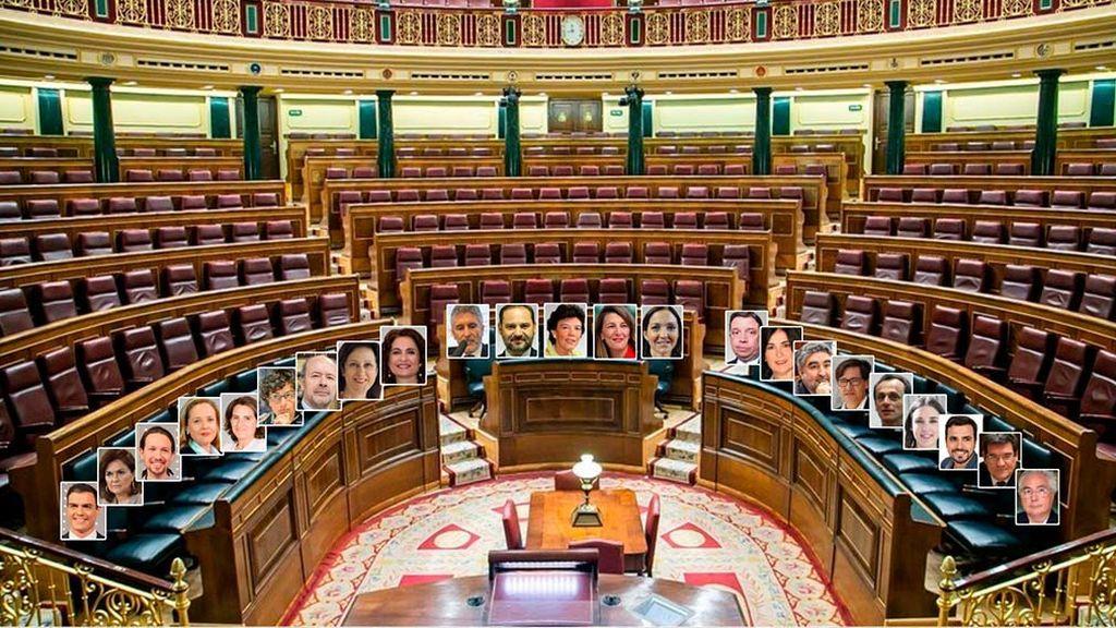 Sánchez y sus 22 ministros se apretarán en el banco azul