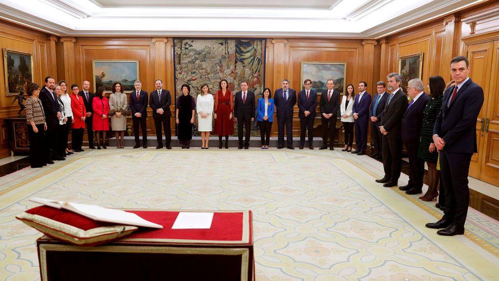 En directo: el nuevo Gobierno de Pedro Sánchez promete sus cargos en Zarzuela
