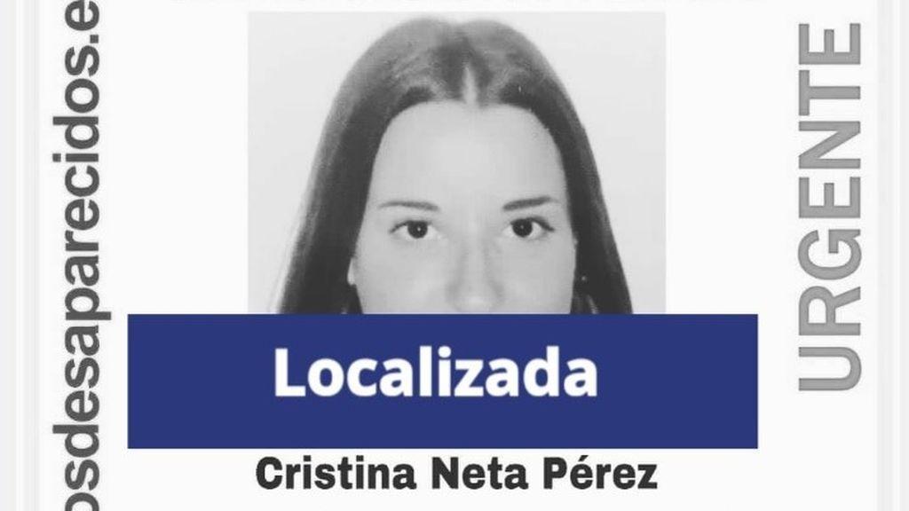 Localizan a Cristina Neta Pérez, la menor de 16 años desaparecida desde el 5 de enero en Ourense