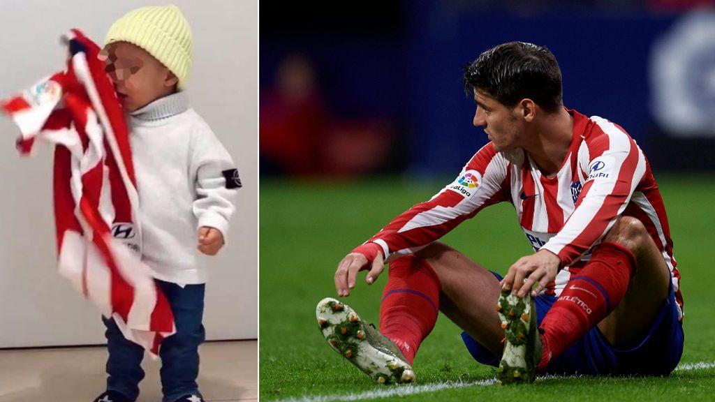 El mosqueo de uno de los bebés de Morata con el derbi madrileño de la Supercopa