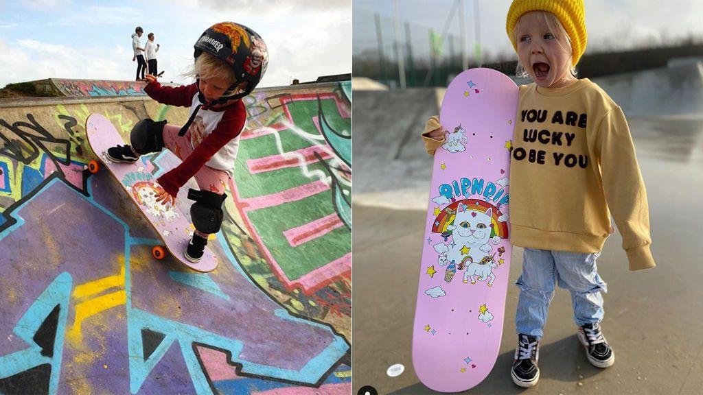 """La niña skater de tres años que enamora en Instagram: """"Soy pequeña y divertida"""""""