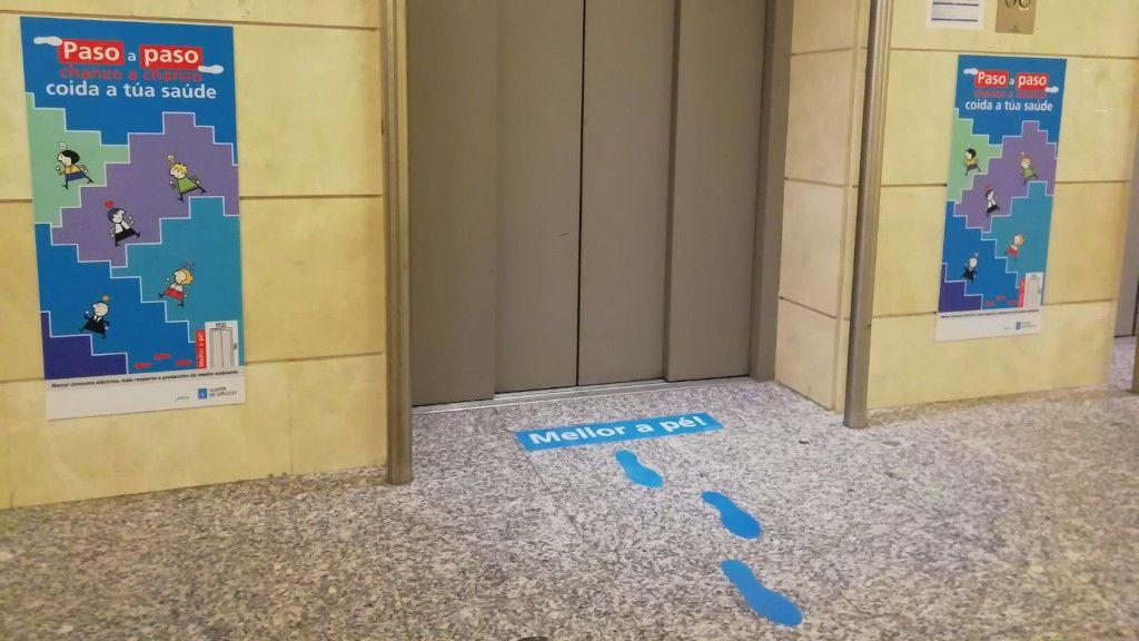 Para mejorar la salud, más escalera y menos ascensor