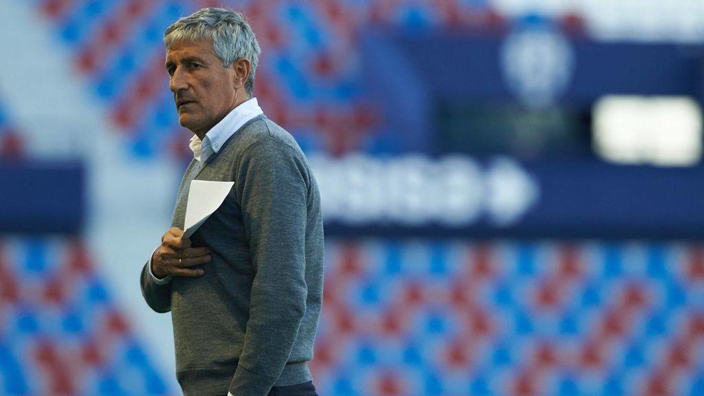 Las frases que definen el estido de  Quique Setién escritas por el propio entrenador del Barça