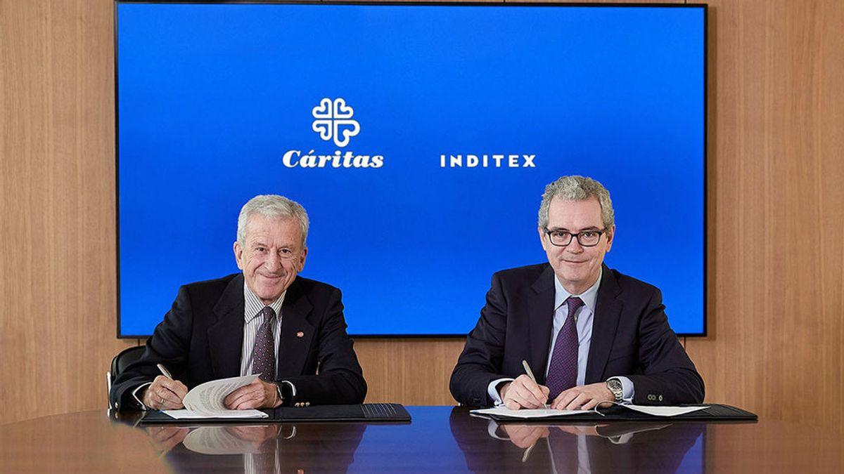 Inditex aporta 8,5 millones de euros a Cáritas para apoyar programas de empleo social