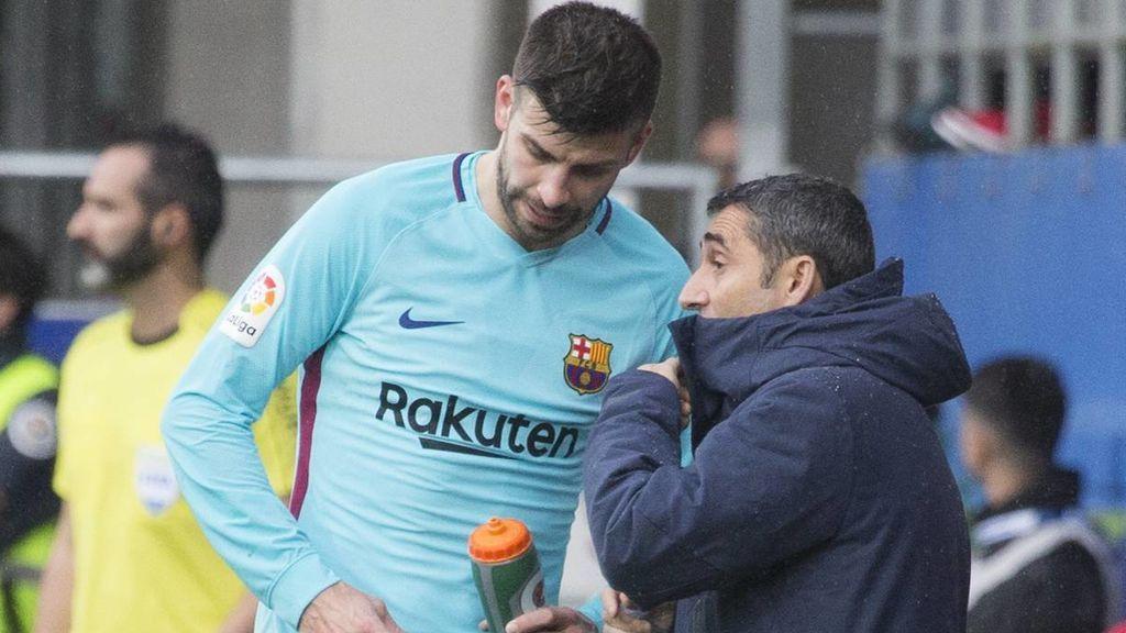 """El mensaje de despedida de Piqué a Valverde: """"Te vas dejando al equipo líder y ganando dos ligas en dos años"""""""