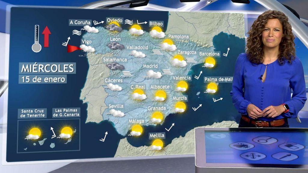 El frío dará una tregua el miércoles: un frente suaviza las temperaturas