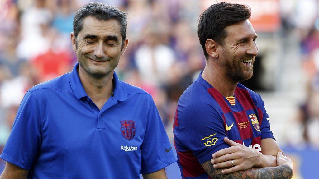 Ernesto Valverde acude a la ciudad deportiva para despedirse de los jugadores