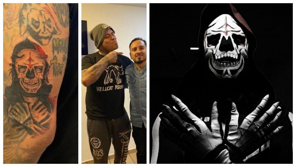 """Pagano se tatúa a La Parka en el brazo a modo de homenaje: """"Con respeto y admiración"""""""