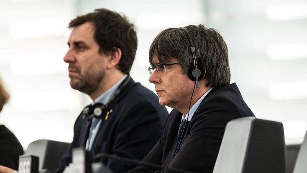 """Puigdemont  ante la Eurocámara pide un  """"mecanismo común para la autodeterminación"""""""