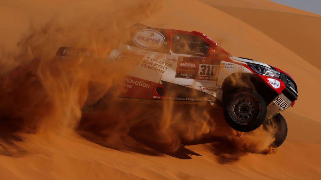 El Dakar neutraliza la etapa por fuertes vientos: Victoria de Carlos Sainz en una jornada marcada por el accidente de Fernando Alonso