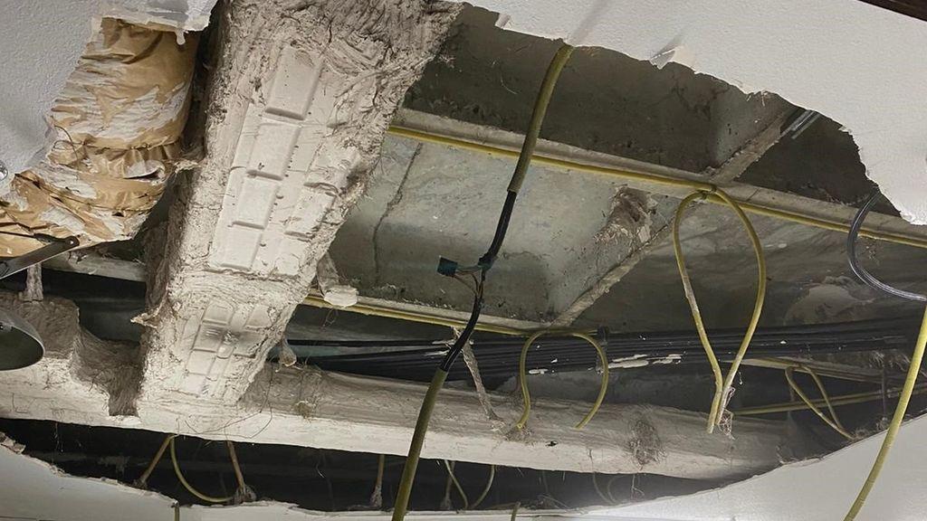 Un techo del hospital Ramón y Cajal se cae sin causar heridos