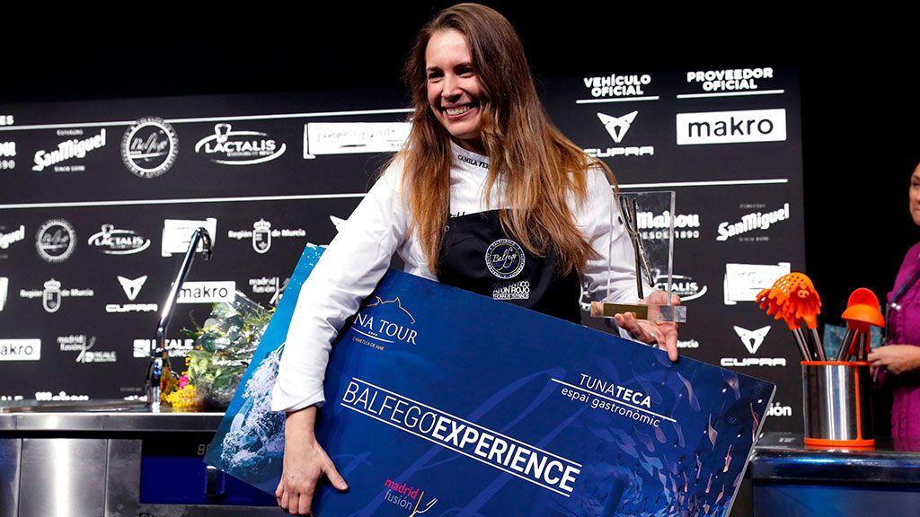 Camila Ferraro, primera mujer en ganar el premio al 'cocinero revelación' de Madrid Fusión