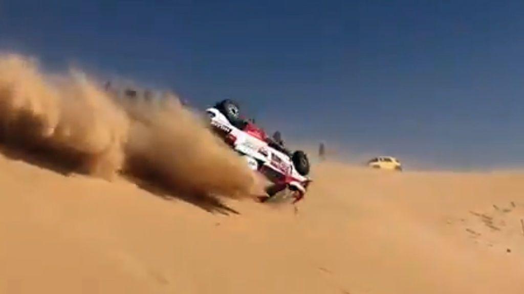 Fernando Alonso sufre un grave accidente en el inicio de la décima etapa del Dakar