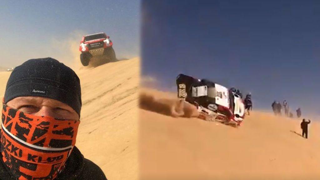 El selfie más peligroso del Dakar: un aficionado capta justo el momento previo al accidente de Fernando Alonso