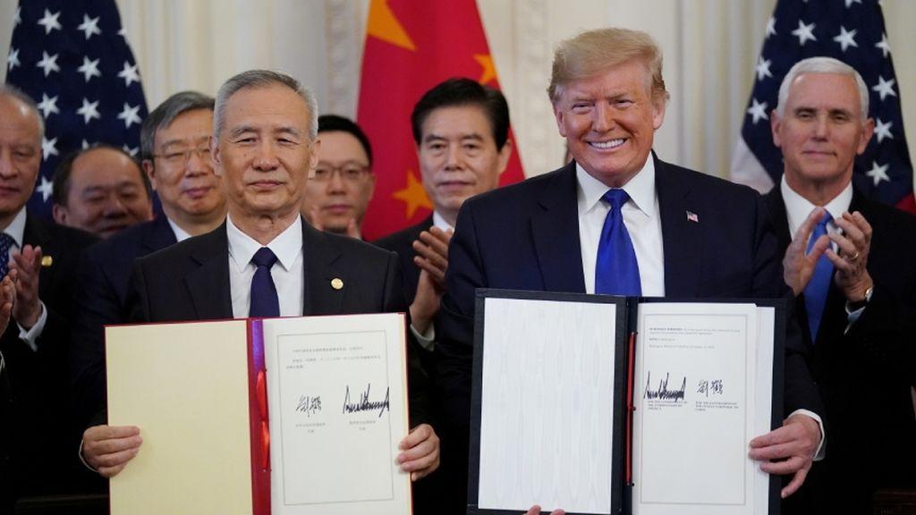 Estados Unidos y China ponen el primer punto y final a su guerra comercial