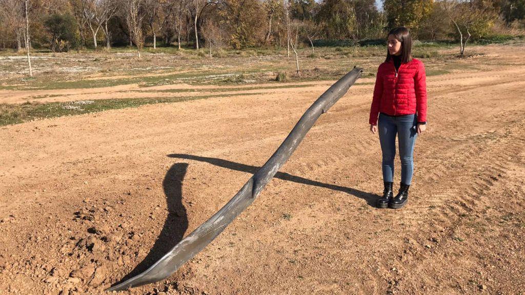 Fragmento de tubería de 2 metros