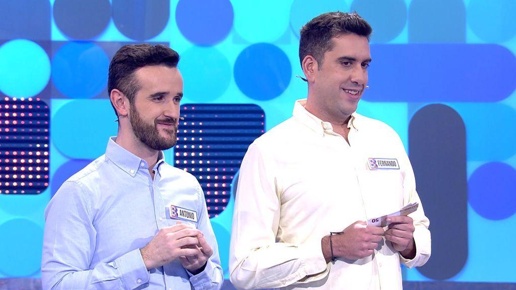 La intuición juega una mala pasada a Antonio y Fernando: rechazan las ofertas de Pablo Chiapella y ganan 100€