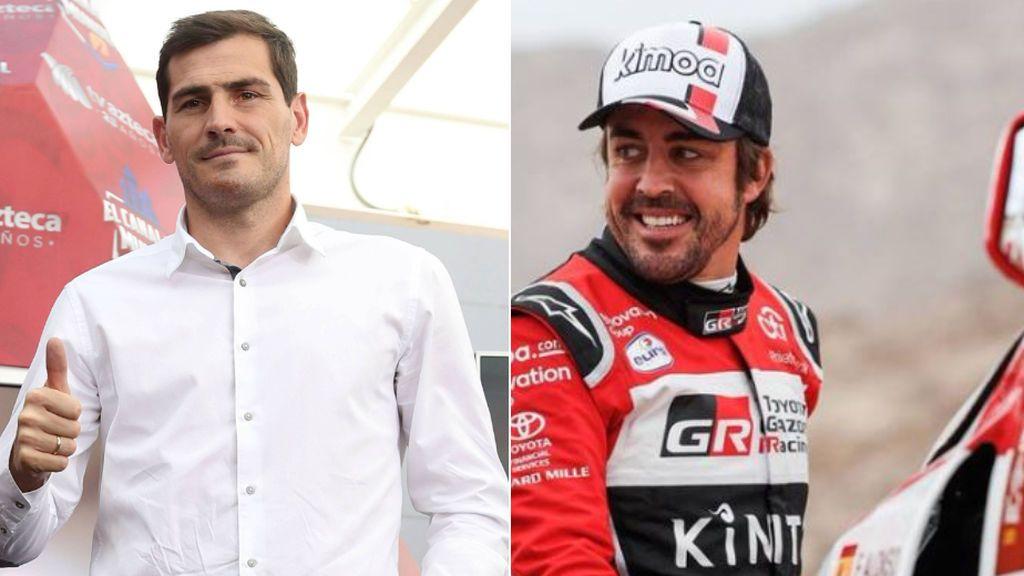 """Casillas elogia el Dakar de Fernando Alonso y le hace un guiño para que vuelva a la F1: """"Ha demostrado no tener límites"""""""