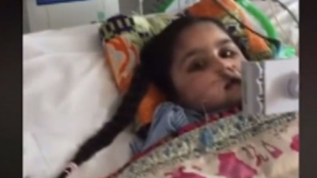 Tafida, tras sufrir una hemorragia cerebral