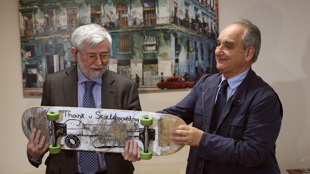 El monopatín de Ignacio Echeverría ya está en el museo del Memorial de las Víctimas del Terrorismo